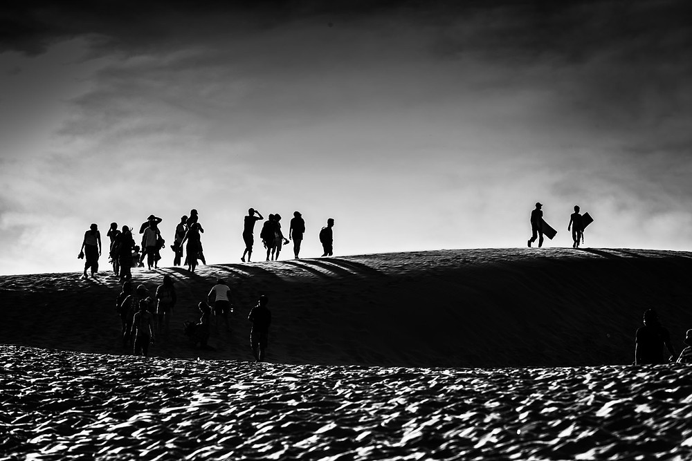 White and black photography,Red Sand Dunes Phan Thiet Vietnam,Pre wedding couple in Vietnam,Photographer by Mansri Monkaew