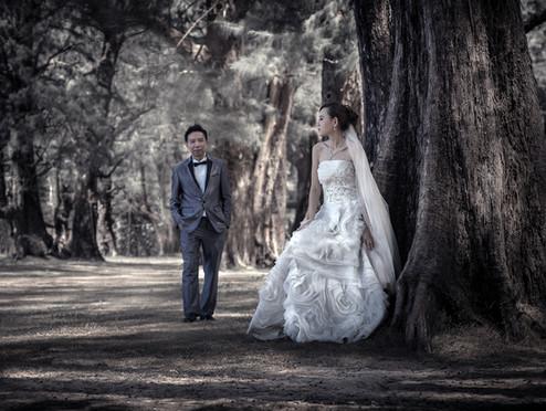 Pre-wedding in Phuket,Location Sirinat National Park Phuket,Thailand. Photographer By Narong Rattanaya.