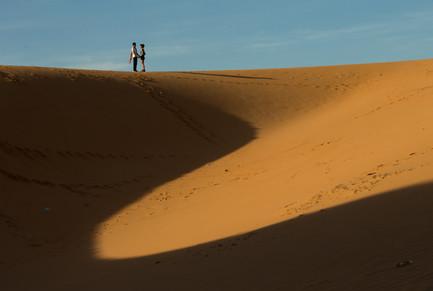 Photographer Landscape,Red Sand Dunes.Mui Ne,Vietnam.