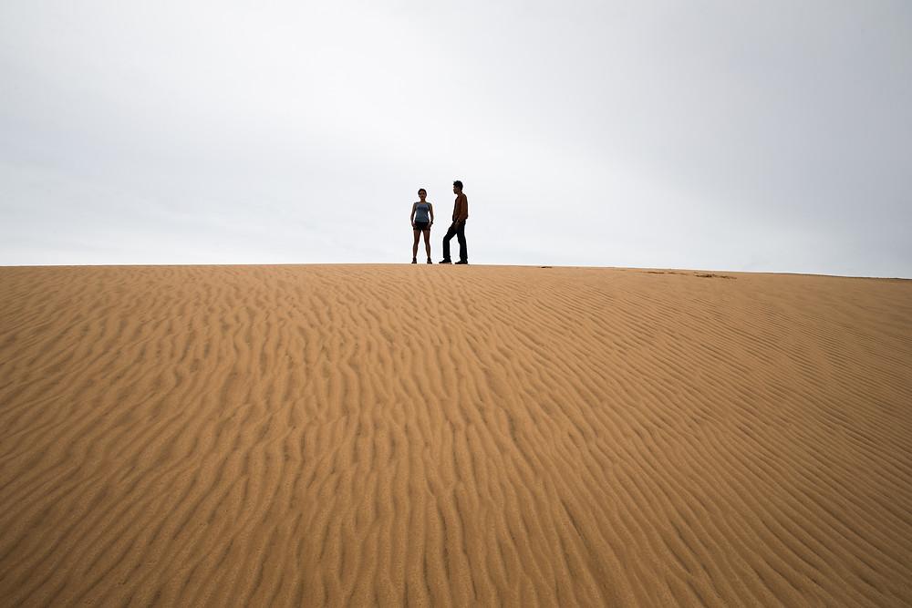 Pre-wedding White Sand Dune in Muine Vietnam.