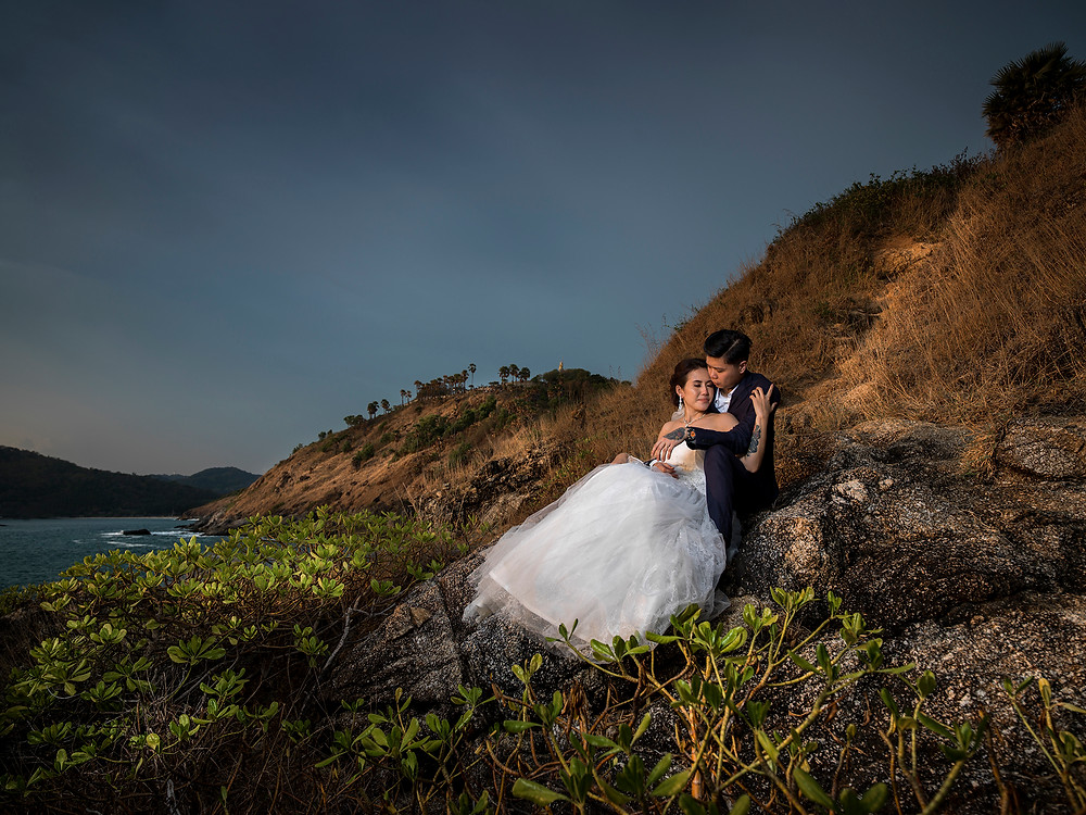 capture the feeling Pre wedding in Phuket Thailand ,Location Prom Thep Cape
