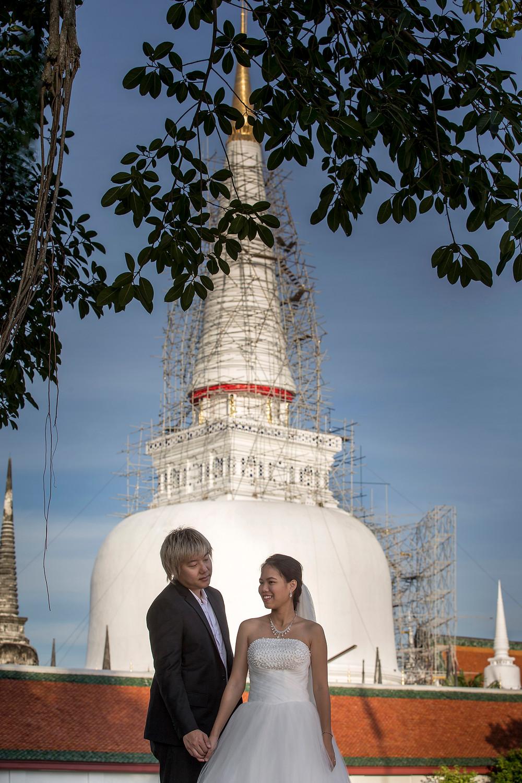 Pre wedding Nakhon Si Thammarat Location Buddhist Temple in Pak Phun,Nakhon Si Thammarat.
