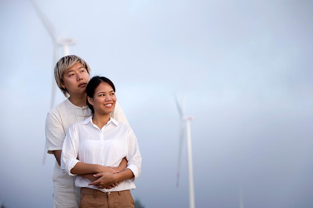 Pre wedding Nakhon Si Thammarat,Location Pakphanang Wind Park,Nakhon Si Thammarat.