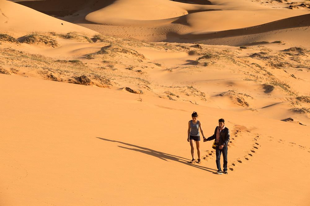 Pre-wedding Red Sand Dune in Muine Vietnam.