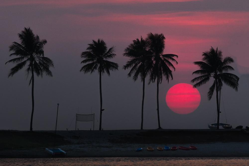 sunset Bang Tao Beach,pre wedding couple in Phuket,Thailand