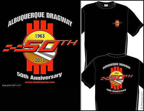 50th anniversary t shirt black