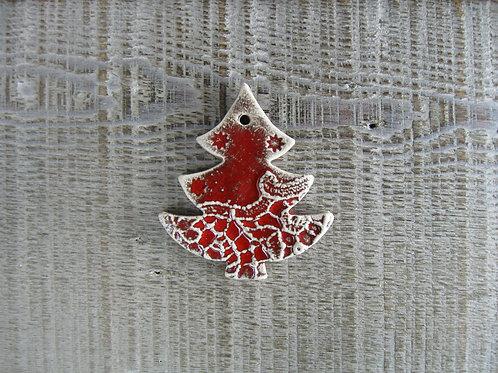 Mini sapin de Noël décoration céramique