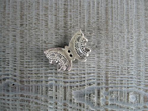Petit bouton papillon céramique