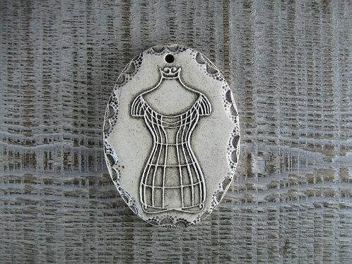 Médaillon buste céramique grand format