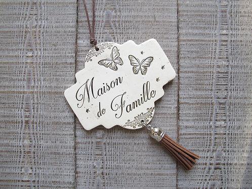 Pampille en céramique Maison de Famille