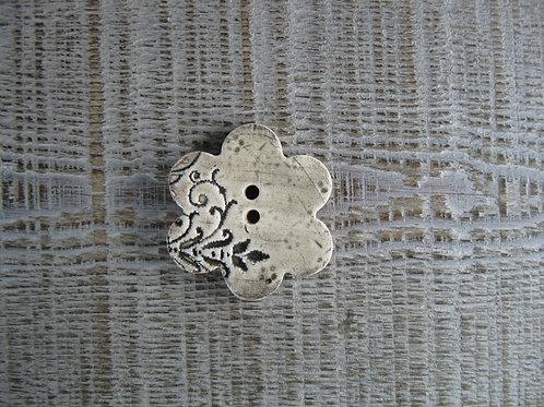 Bouton céramique fleur format 4