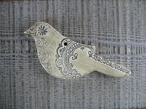 Oiseau en céramique romantique et shabby