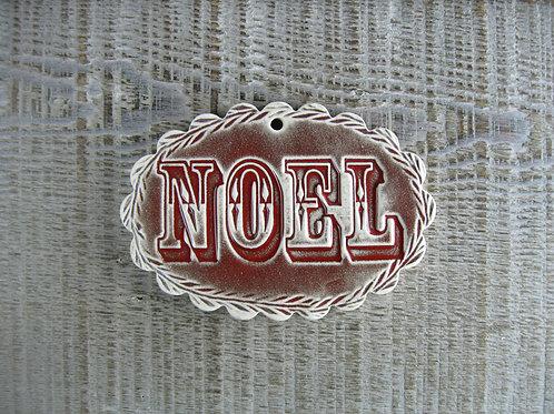 Décoration ovale Noël rouge