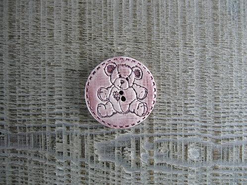 Bouton rond céramique ourson