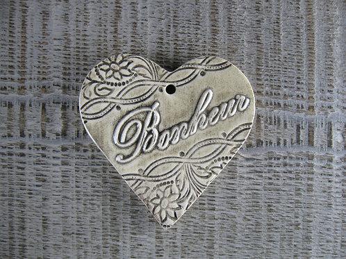 Coeur céramique mot Bonheur