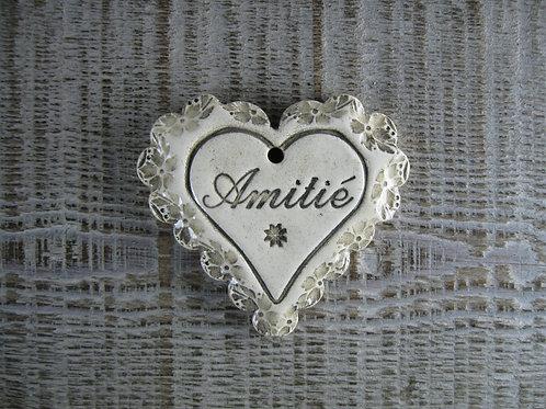 Coeur festonné mot Amitié
