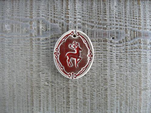Pastille ovale cerf décoration Noël