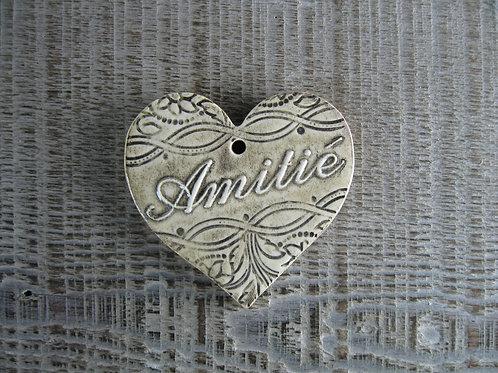 Coeur céramique Amitié