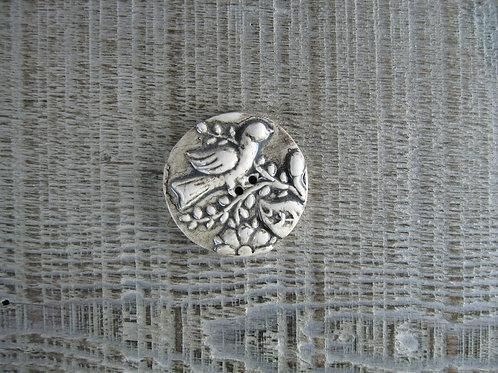 Bouton céramique oiseau alsacien petit modèle