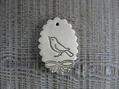 Petit médaillon céramique Oiseau