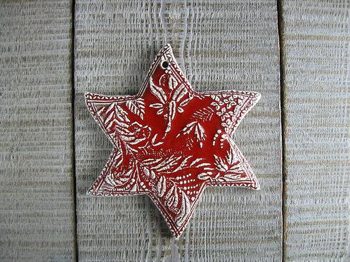 Décoration étoile de Noël