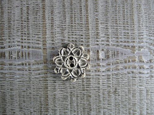 Bouton céramique fleur