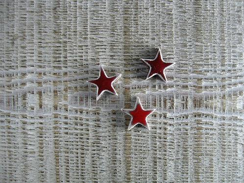 Lot de 3 petites étoiles en céramique