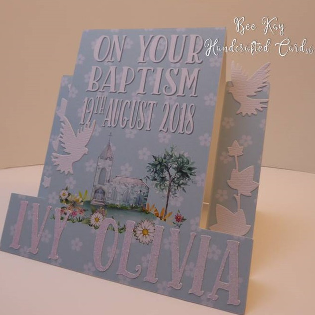 Baptism (Shaped Card)