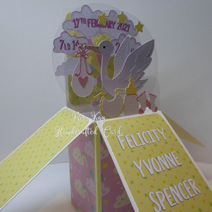 Pretty pink and lemon for a baby girl