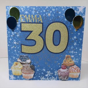 Cupcakes for a 30th Birthday