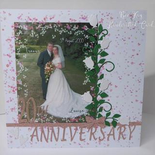 20th Anniversary with wedding photo