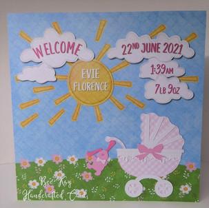 Summer baby girl (20x20cm card)