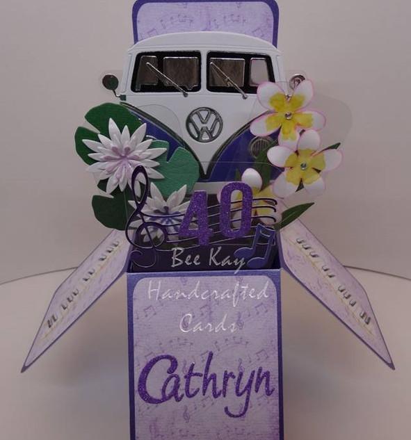 VW Van, tropical flowers & piano