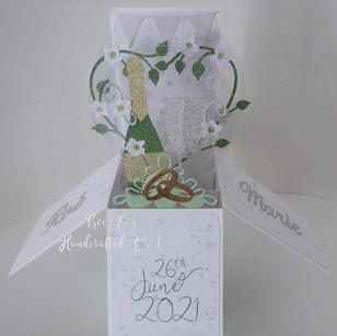 Stylish wedding box card