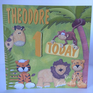 Jungle animals for first birthday