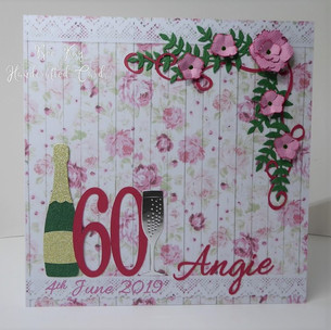 60th flowers & champagne