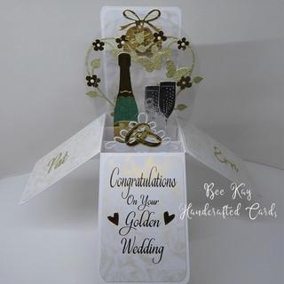 Golden wedding floral heart