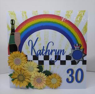 Sunflowers and rainbow