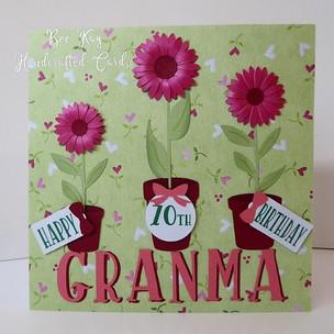 3 flower pots from 3 grandchildren