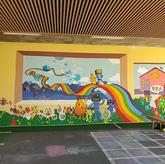 Fresque à l'école de St Victor de Cessieu.