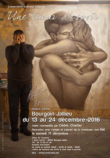 Exposition Raf Péaud à l'office de tourisme de Bourgoin-Jallieu. Du 13 au 24 décembre 2016.