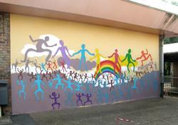 Fresque à l'école Linné.