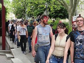Zombie walk Bourgoin-jallieu.