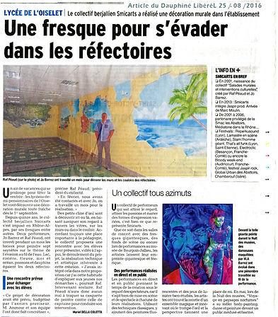 fresque au lysée de l'Oiselet  de Bourgoin-Jallieu.