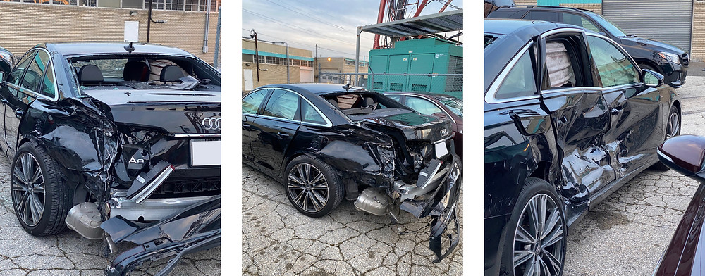 Picture of car after crash
