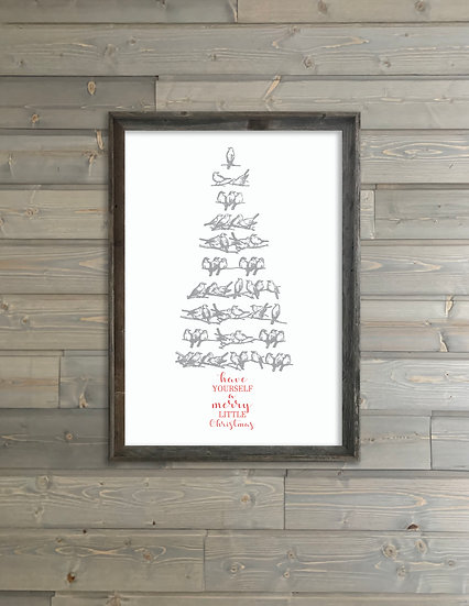 A MERRY LITTLE CHRISTMAS | Flat Canvas Wall Art | Christmas | Ready to Frame