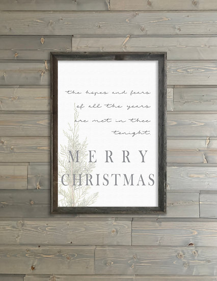 THE HOPES AND FEARS | Flat Canvas Wall Art | Christmas | Ready to Frame
