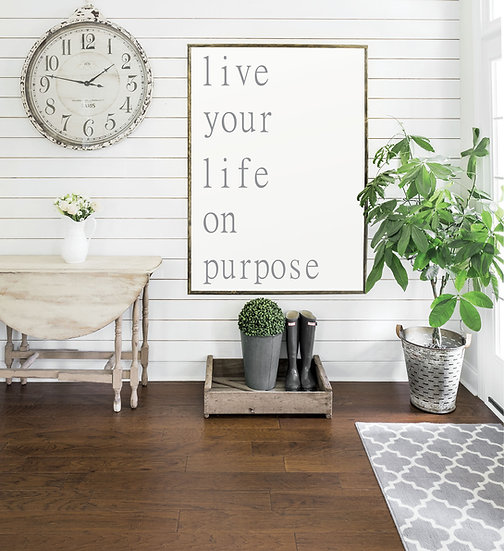 LIFE ON PURPOSE | Flat Canvas Wall Art | Home Decor | Wall Art | Ready to Frame