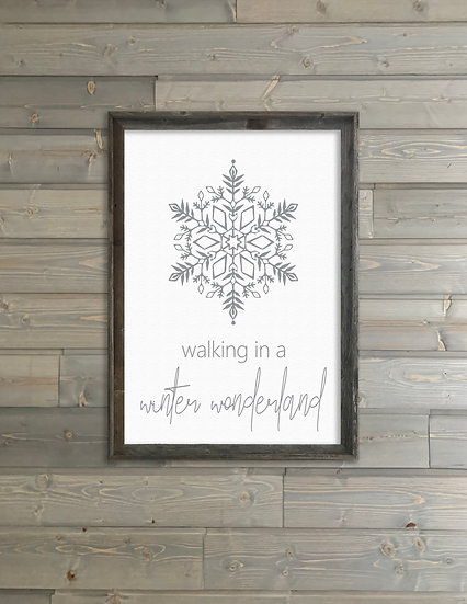 WINTER WONDERLAND | Flat Canvas Wall Art | Christmas | Ready to Frame