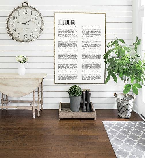 LIVING CHRIST | Flat Canvas Wall Art | Home Decor | Wall Art | Ready to Frame